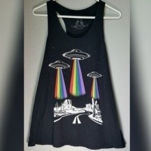 Spaceship Tank Top NWOT